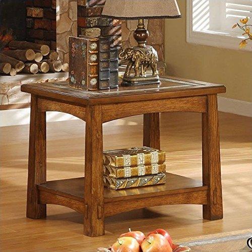 Craftsman Home Side Table in Americana Oak Finish (Riverside Oak Desk)