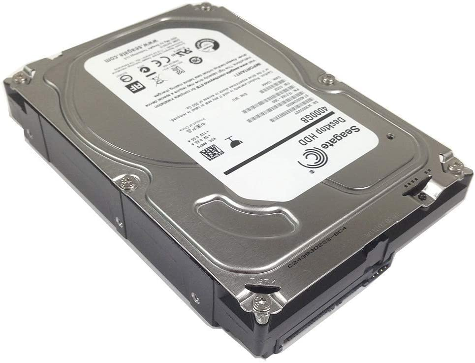 "Seagate Barracuda 7200.15 ST4000DM000 4TB 5900RPM 64MB Cache SATA 6.0Gb/s 3.5"" Internal Desktop Hard Drive - 2 Year Warranty (Renewed)"