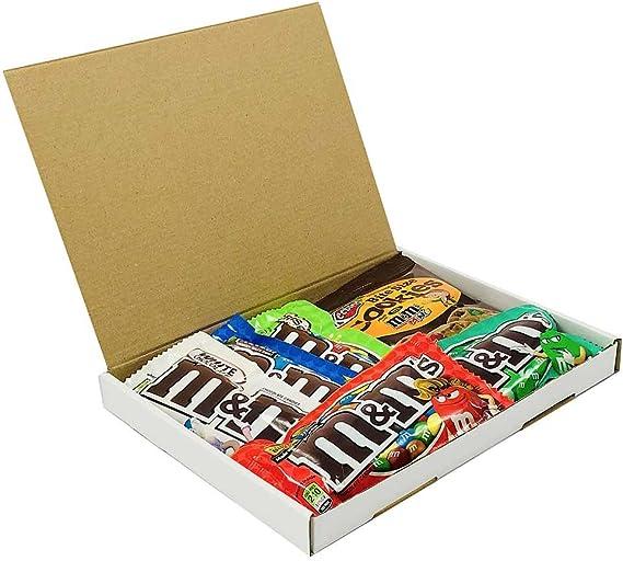 Mini Cesta Americana M&M | Chocolate y Caramelo | Golosinas para Navidad Reyes o para regalo | Caja de caramelos y Chucherias Americanas: Amazon.es: Alimentación y bebidas