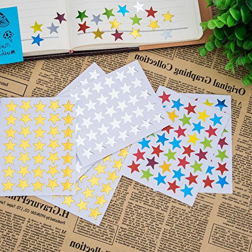 Kenkio 8270 Count Colorful Star Stickers Self-adhesive Stickers Stars Labels Photo #4