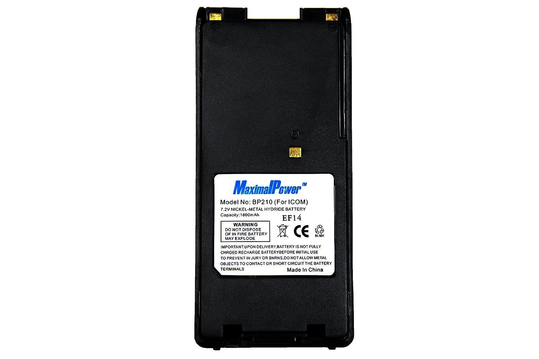 Maximal Power RB ICOM BP210 MaximalPower Two-Way Radio Battery for ICOM IC-F21S//F21//F30//F40//F3GS//4GS//GT//GS