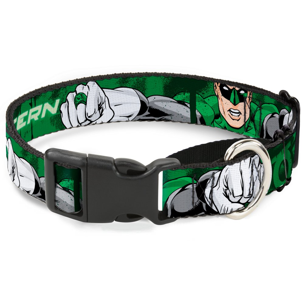 Buckle-Down MGC-WGL002-S Green Lantern Martingale Dog Collar, 1  Wide-Fits 9-15  Neck-Small