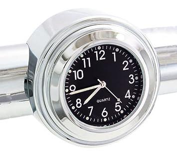 "7//8/"" 1/"" Universal Motorraduhr Uhr Uhren Lenkeruhr für Motorrad Roller Fahrrad"