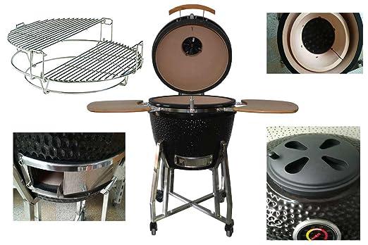 Cerámica Parrilla, kamado Barbacoa, kamado BBQ, 55 cm de diámetro ...