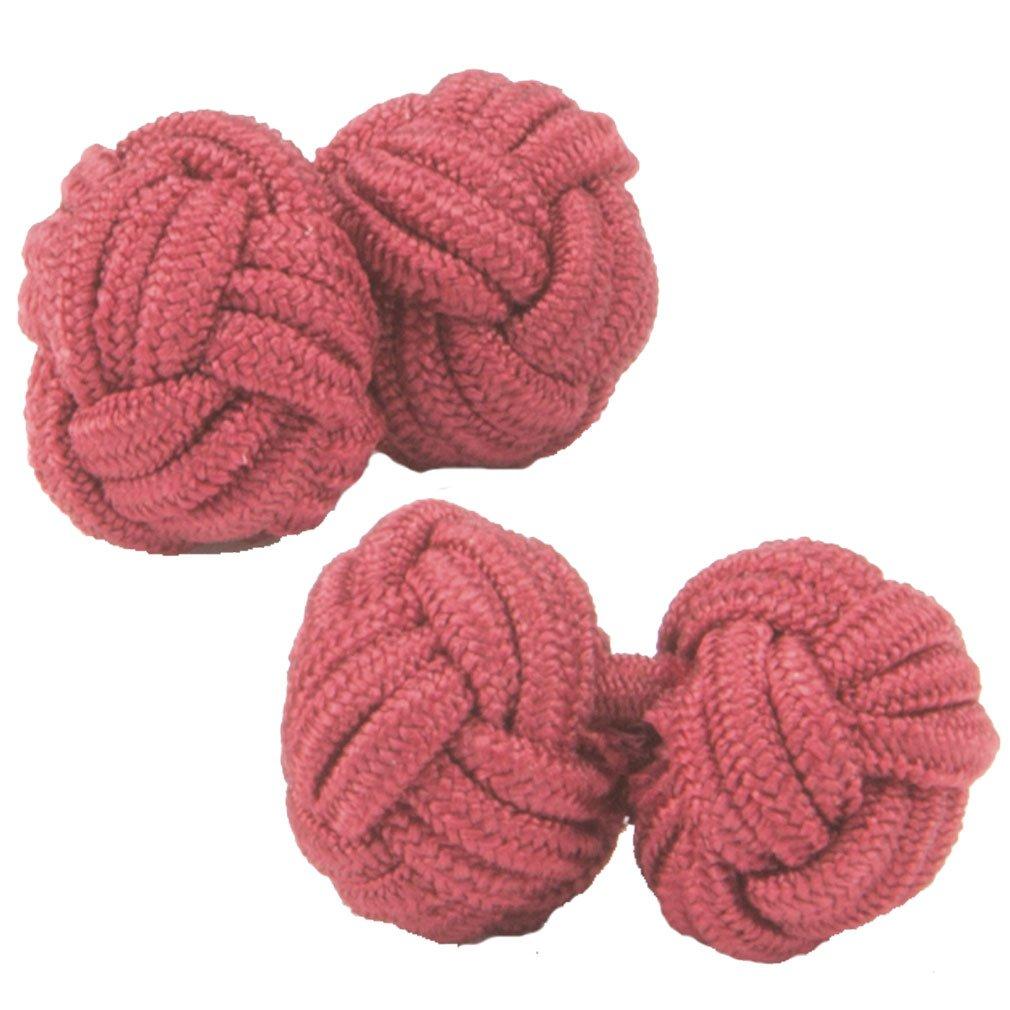 Cuffs /& Co Red Shade Silk Knot Cufflinks