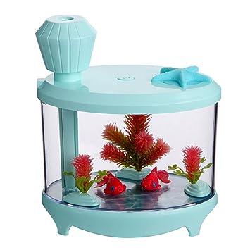 YANG\'s Mini Luftbefeuchter Sky Blue Water Diffusor 460 ML Aquarium ...