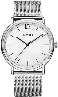 Watch VOEONS Mens Watches On Sale Clearance Silver Mesh Steel Wrist Watch for Men reloj de