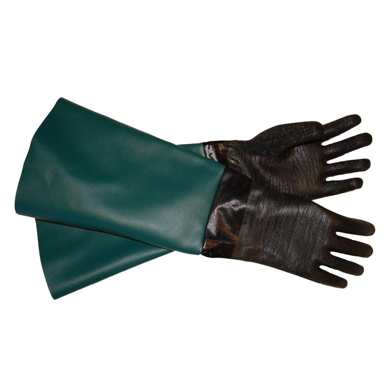 TUFF-Blast Gloves for Sandblasting Sandblaster Sand Blast Cabinet - 7.5'' x 26'' Made in USA by J&B Custom Products