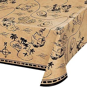 Mantel * Pirate Treasure * como decoración para cumpleaños Infantiles y Fiesta temática // 137 x 259 cm