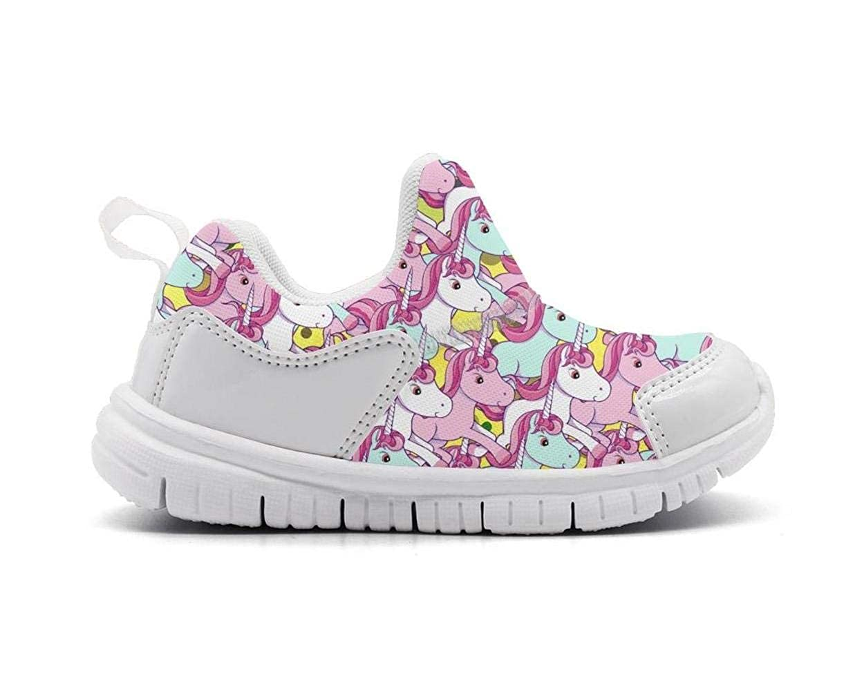 Kinglong Pink Unicorn Horse Lovely Kids Sneakers Boys and Girls Cute Casual Lightweight Running Shoes