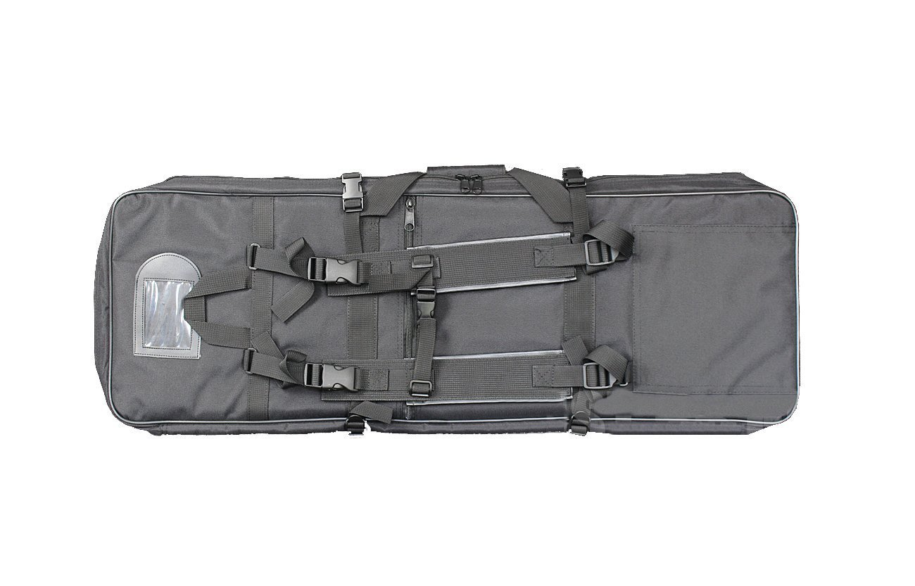 A&N Airsoft Gun Rifle Large Portable Carrying Bag Pack Storage Case 85cm MOLLE w/Accessory Pouches Compartments