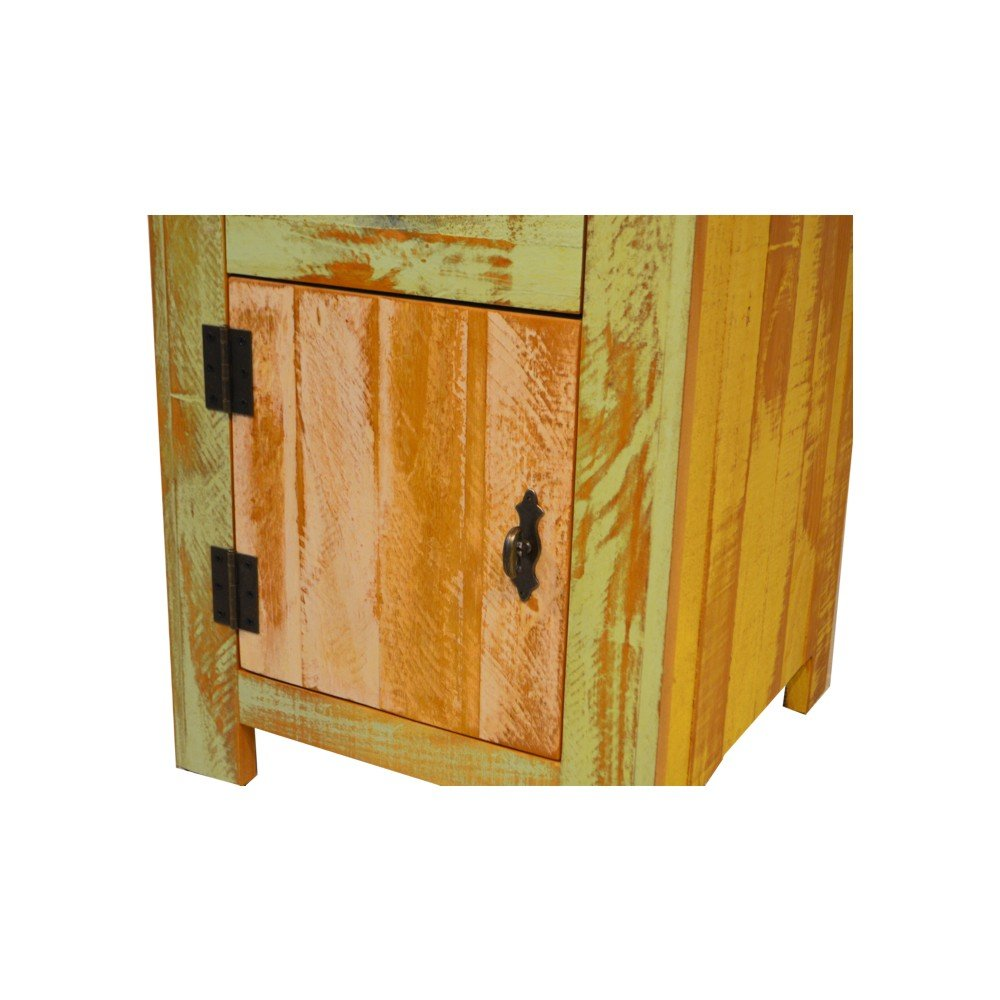 Reclaimed Accent Cabinet Solid Wood Distressed Color by The Beach House Design (Image #6)
