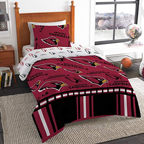 The Northwest Company NFL Arizona Cardinals Twin Bed in a Bag Complete Bedding Set #498973547 Arizona Cardinals Twin Comforter