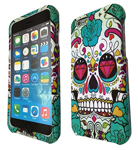 iphone 6 plus 5.5'' Sugar Skulls Diamond Multi Tattoo Trend Fashion Design Trend Fashion Trend Full case Cover Front & Back Case