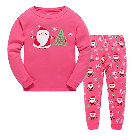 5ec3caa624 Image Unavailable. Image not available for. Color  CARGI Little Girls  Cotton Pajama Sets Long Sleeve ...