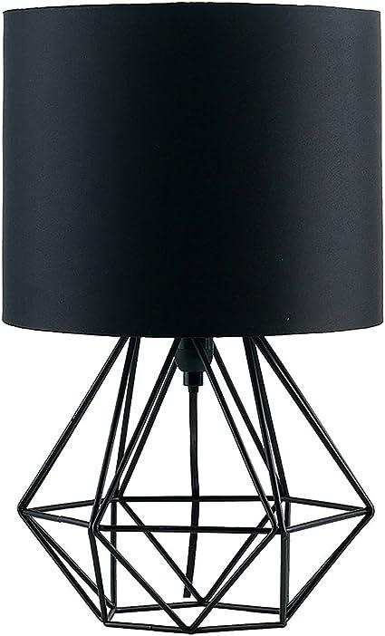 Acheter Support Géométrique Lampes De Table E27 Base Décorative Rétro Abat Jour Lampes De Table De Chevet Éclairage Pour Living Room Chambre De 15,74
