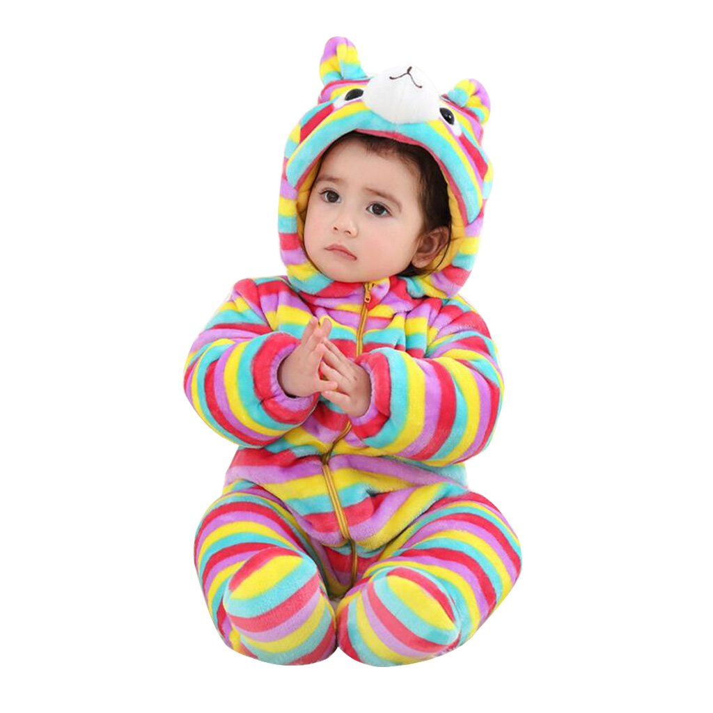 Hooded Rompers Infant Toddler Snowsuits Jumpsuit Winter Overalls for Baby Girls H171116PF004