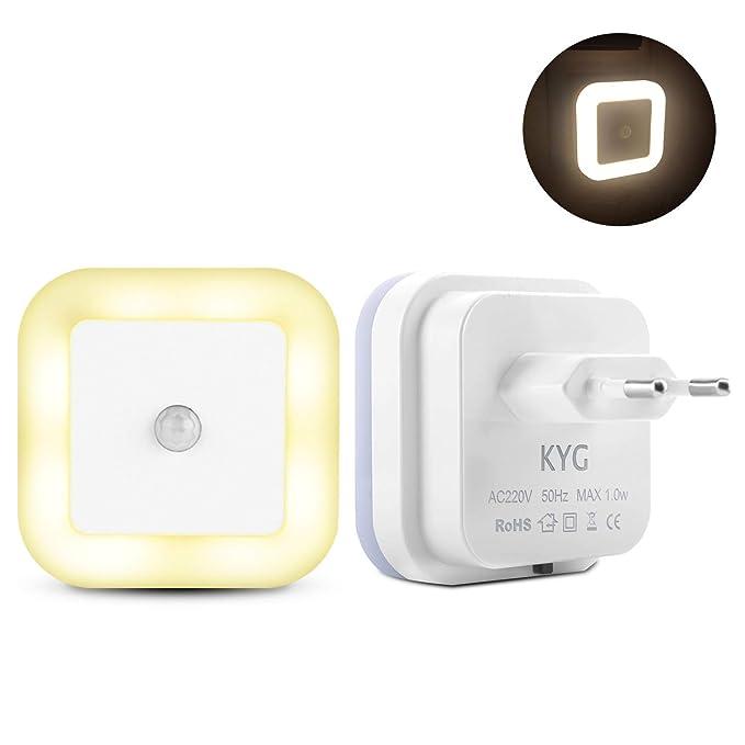 LED Nachtlicht mit Bewegungsmelder Warmweiß Nachtlicht Steckdosen PIR-Körpersensor AUTO/ON/OFF Led Beleuchtung sensor energie