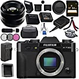 Fujifilm X-T20 Mirrorless Digital Camera (Black) 16542490 35mm f/1.4 XF R Lens 16240755 Bundle