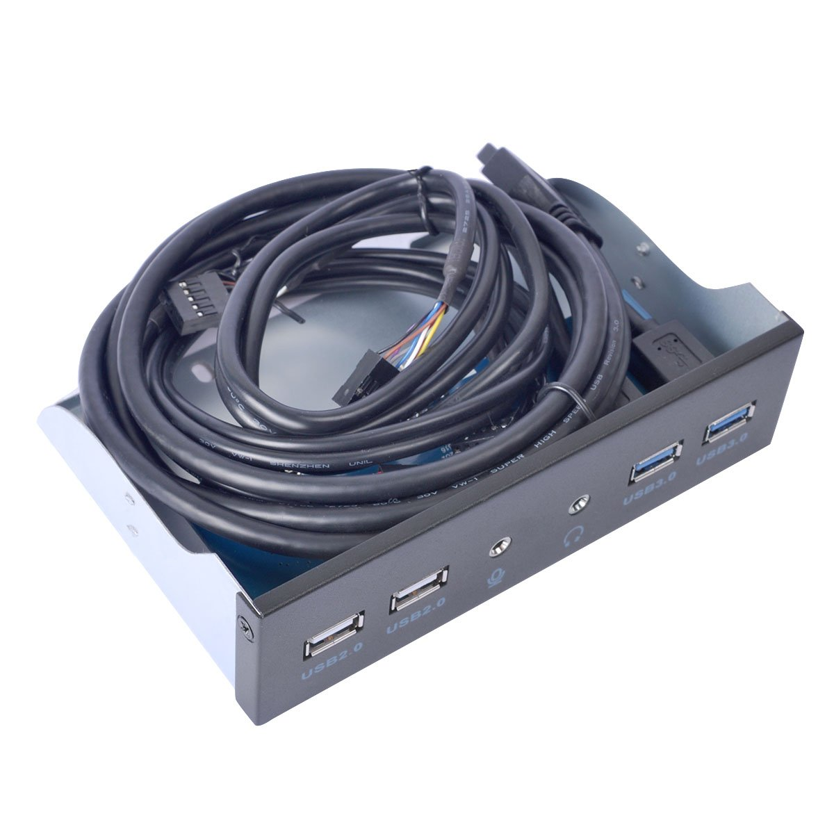 UCEC 5.25 Inch Front Panel USB Hub - With USB 3.0 2 Ports & USB 2.0 2 Ports & HD AUDIO port