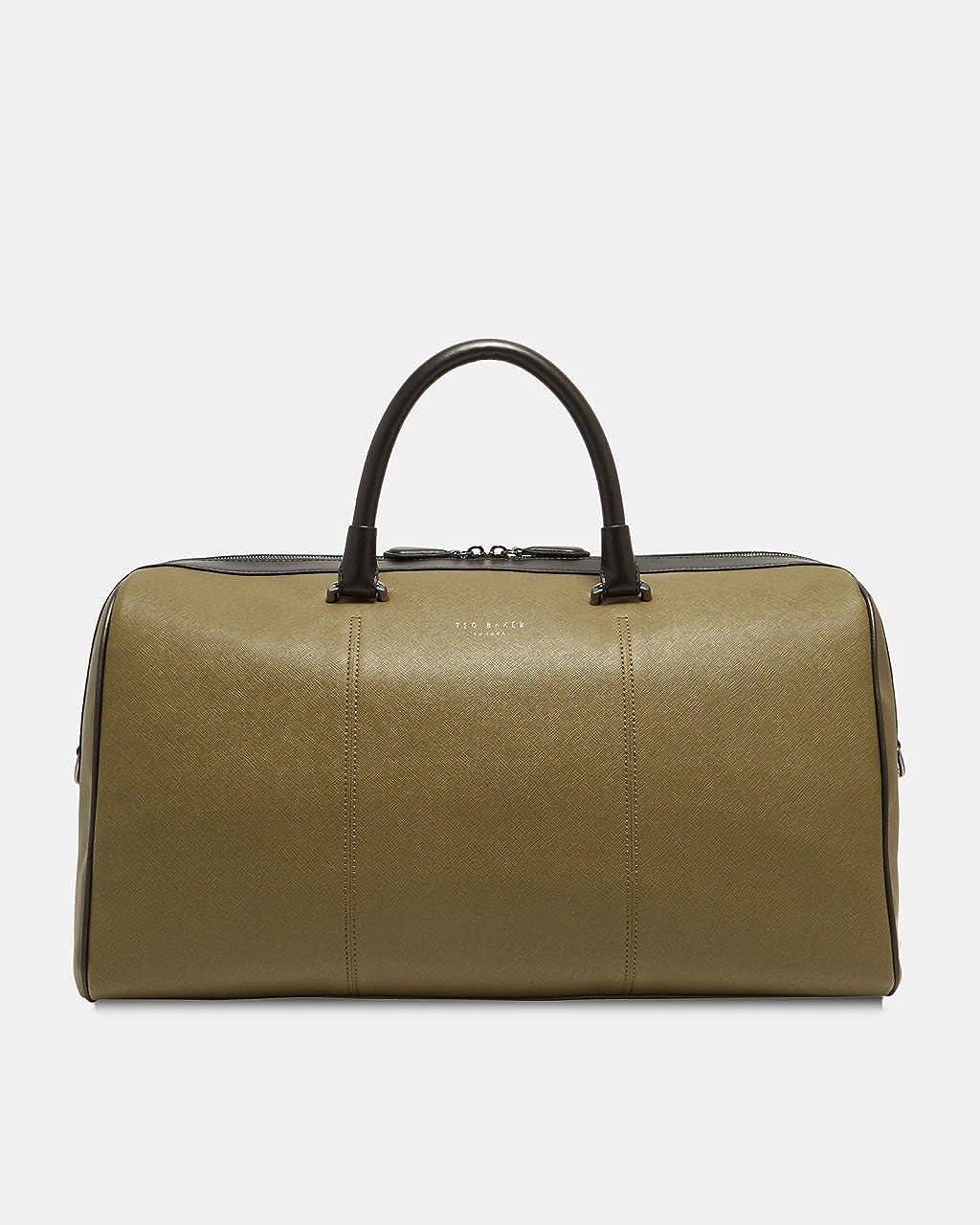 (テッドベーカー) TED BAKER LONDON Men`s Haybail Crossgrain holdall Bag メンズハイベールクロスグレインホルダーバッグ(並行輸入品) One Size オリーブ B07BFSZNCR