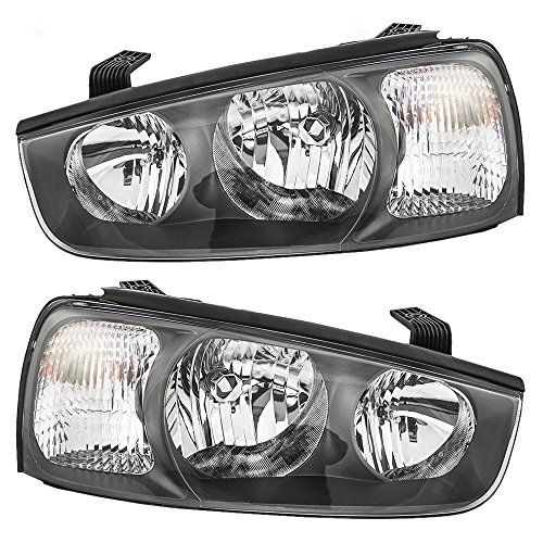 Driver and Passenger Headlights Headlamps Replacement for Hyundai 92101-2D150 92102-2D150 AutoAndArt ()