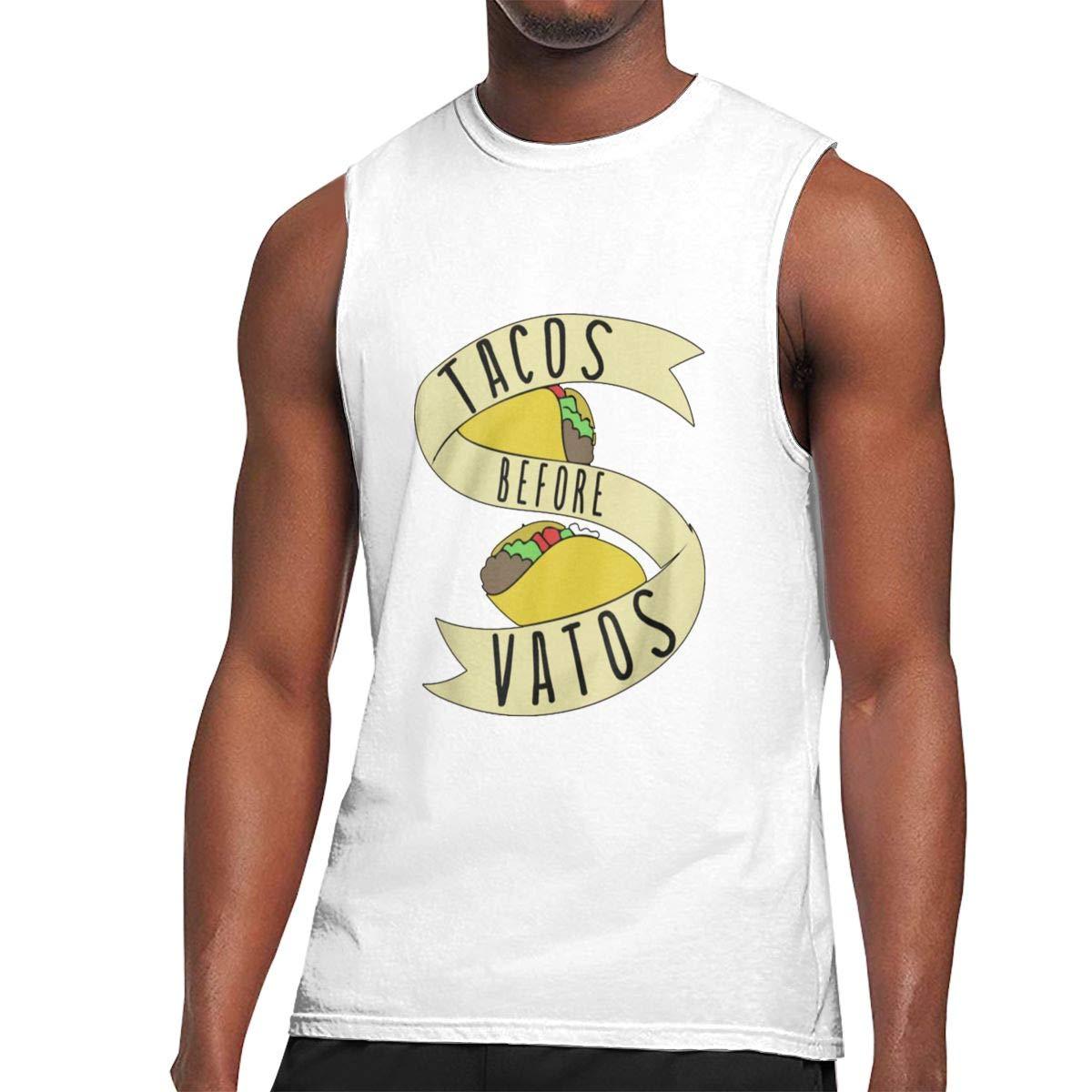 Seuriamin Tacos Before Vatos Humor Gym Sleeveless Muscle Short Sleeve T Shirts