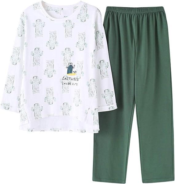 Conjunto de pijama para niñas grandes, pijamas de algodón, manga larga, para adolescentes y niños grandes, talla 12 - Blanco - L 14-15 años: Amazon.es: Ropa y accesorios