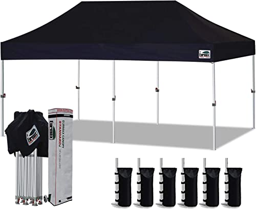 Eurmax 10'x20' Ez Pop Up Canopy Tent Commercial Instant Canopie