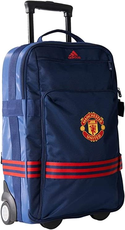 adidas Sacs Sac a roulettes Manchester United FC Bleu