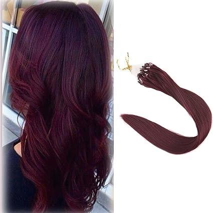 Extensiones de cabello humano Full Shine, con anillas, color negro azabache, 40,6 cm, 1 g por mechón, 50 g por paquete