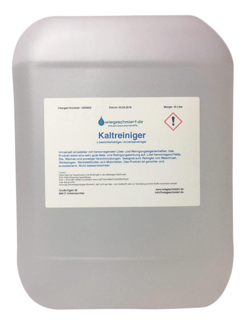 Kaltreiniger Maschinen & Anlagenreiniger (10 Liter): Amazon.de: Auto
