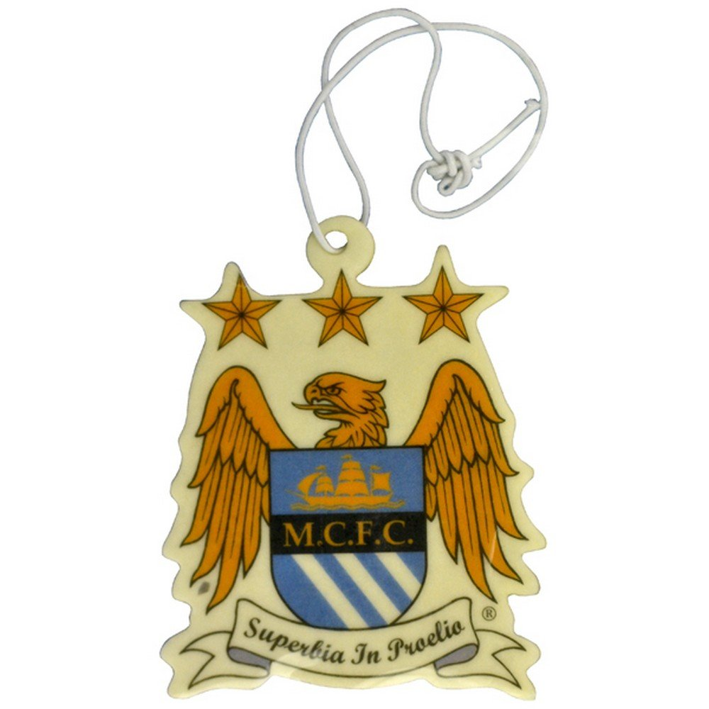 Manchester City FC Official Football Crest Car Air Freshener UTSG2410_1