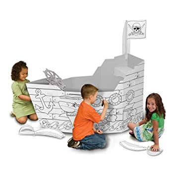 Amazon.com: My Very Own House Coloring Playhouse, Pirate Ship: Toys ...