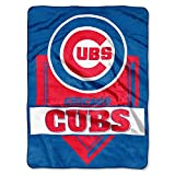 MLB Chicago Cubs Royal Plush Raschel Throw, One Size, Multicolor