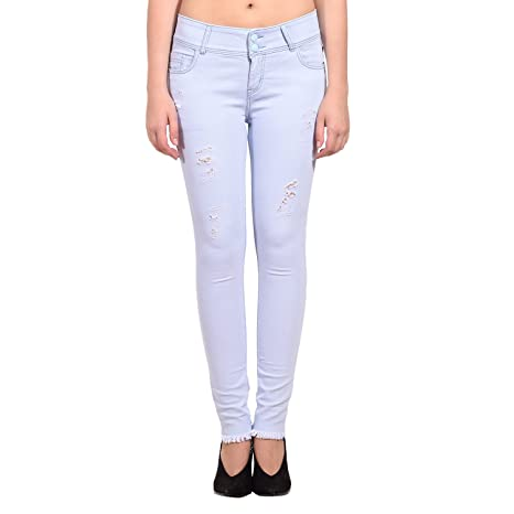 ICO Blue Star Grey Casual Denim for Women Jeans   Jeggings