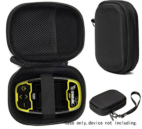 Protective Case for Golf GPS by CaseSack, Specially Designed for IZZO Swami 4000+ Golf GPS, and Swami 4000, Swami 5000 Golf GPS Rangefinder; Garmin Approach G30, G6, G7 (Black) by CaseSack