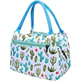 Lunch Bag Cooler Bag Women Tote Bag Insulated Lunch Box Canvas Thermal Cooler Food Lunch Bags for Kids/Picnic/Boating/Beach (Multicolor#B)