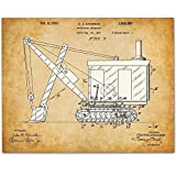 Excavator - 11x14 Unframed Patent Print - Art for Boy's Room