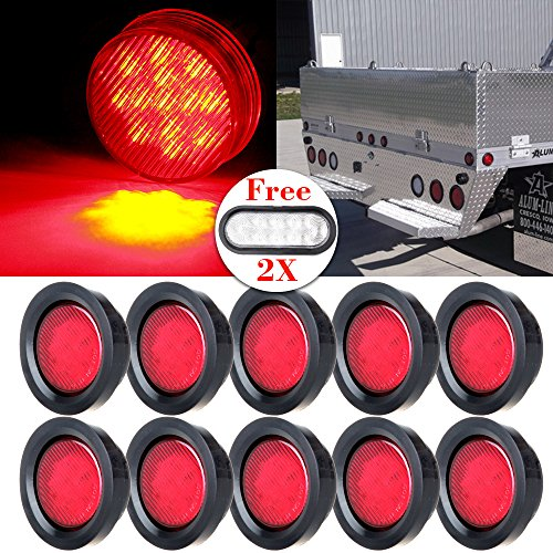 cciyu Side Marker Lights 10 Pack Red 2.5