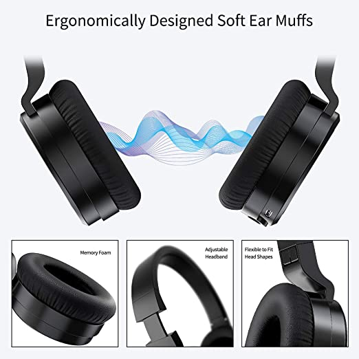 Amazon Com Linpa World Bluetooth Headphones Over Ear 5 0 With Graphene Driver Hi Fi Stereo 30h Long Battery Built In Mic Cvc8 0 Noise Cancelling Bluetooth Headsets Comfort And Foldable For Cell Phone Pc Tv Home Audio