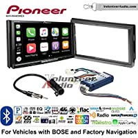 Volunteer Audio Pioneer AVH-W4400NEX Double Din Radio Install Kit with Wireless Apple CarPlay, Android Auto, Bluetooth Fits 2005-2006 Nissan Altima (With Bose)