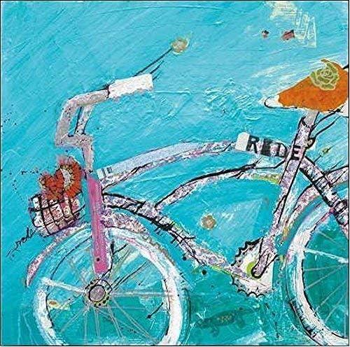 Rahmen-Kunst Imagen - Kelly Día: Ride Blue Fucsia Foto en Lienzo ...