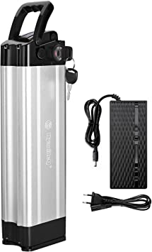 Accolmile Ebike - Batería recargable de ion de litio (36 V, 17,5 Ah, con cargador para bicicleta eléctrica): Amazon.es: Deportes y aire libre