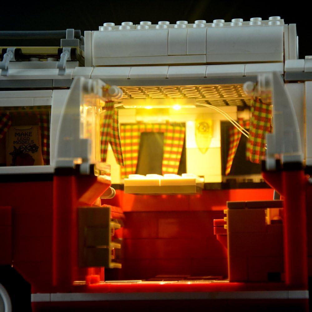 Für Lego T1 10220 Campingbus VW Volkswagen Hell LED Licht Light Beleuchtung ttw