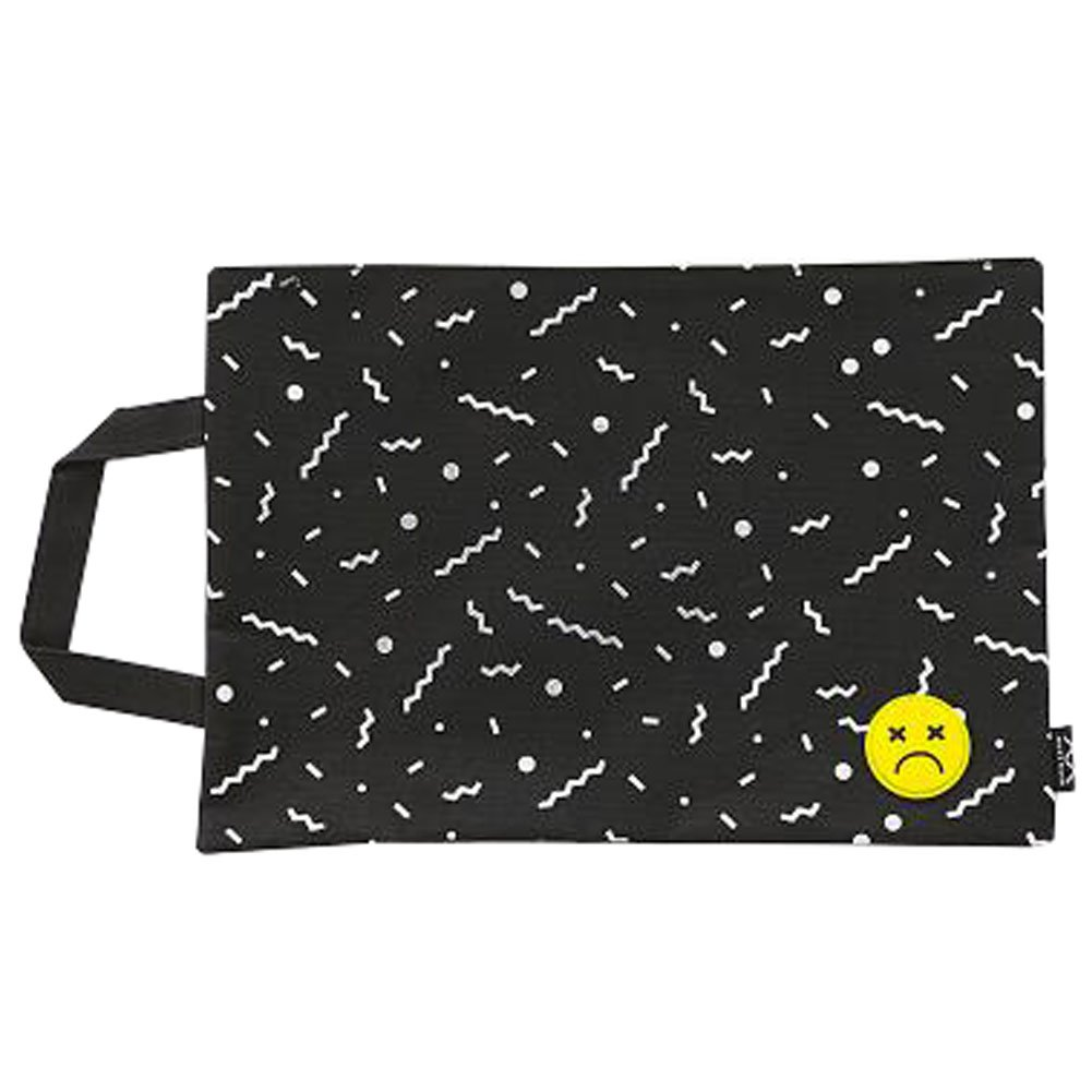 Cute File Bag Stationery Bag Pouch File Envelope for Office/School Supplies, Large Black