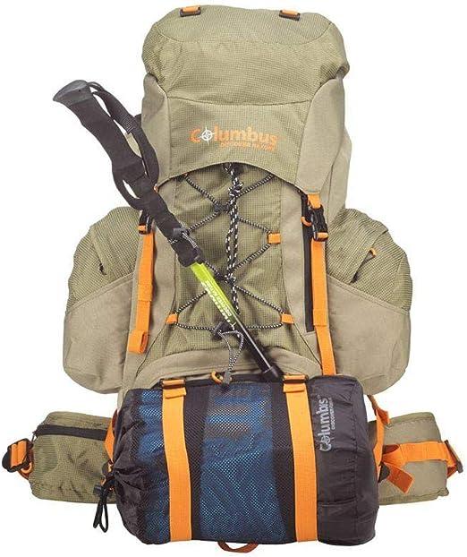Mochila Monta/ñismo con Funda DE Lluvia Adultos Unisex Multicolor Alpinismo y Trekking Multicolor Columbus Scout 40+5 Talla /Única