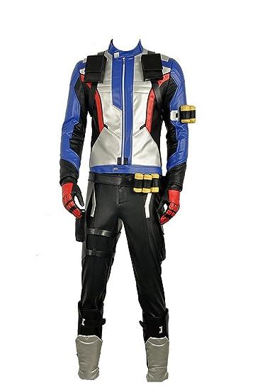 4ded18cd5 Overwatch Soldier 76 PU Jacket Pants Gloves Halloween Cosplay ...