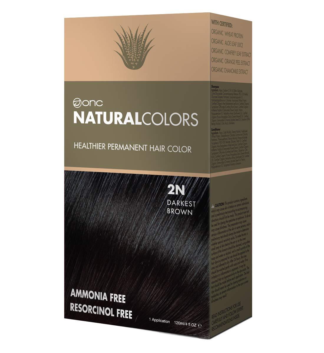Amazon Onc Naturalcolors 2n Darkest Brown Healthier Permanent