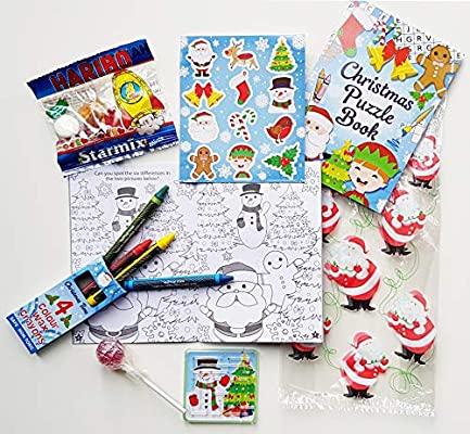 Christmas Puzzle Book Boys Girls Party Bags Class Prizes Kids Stocking Fillers